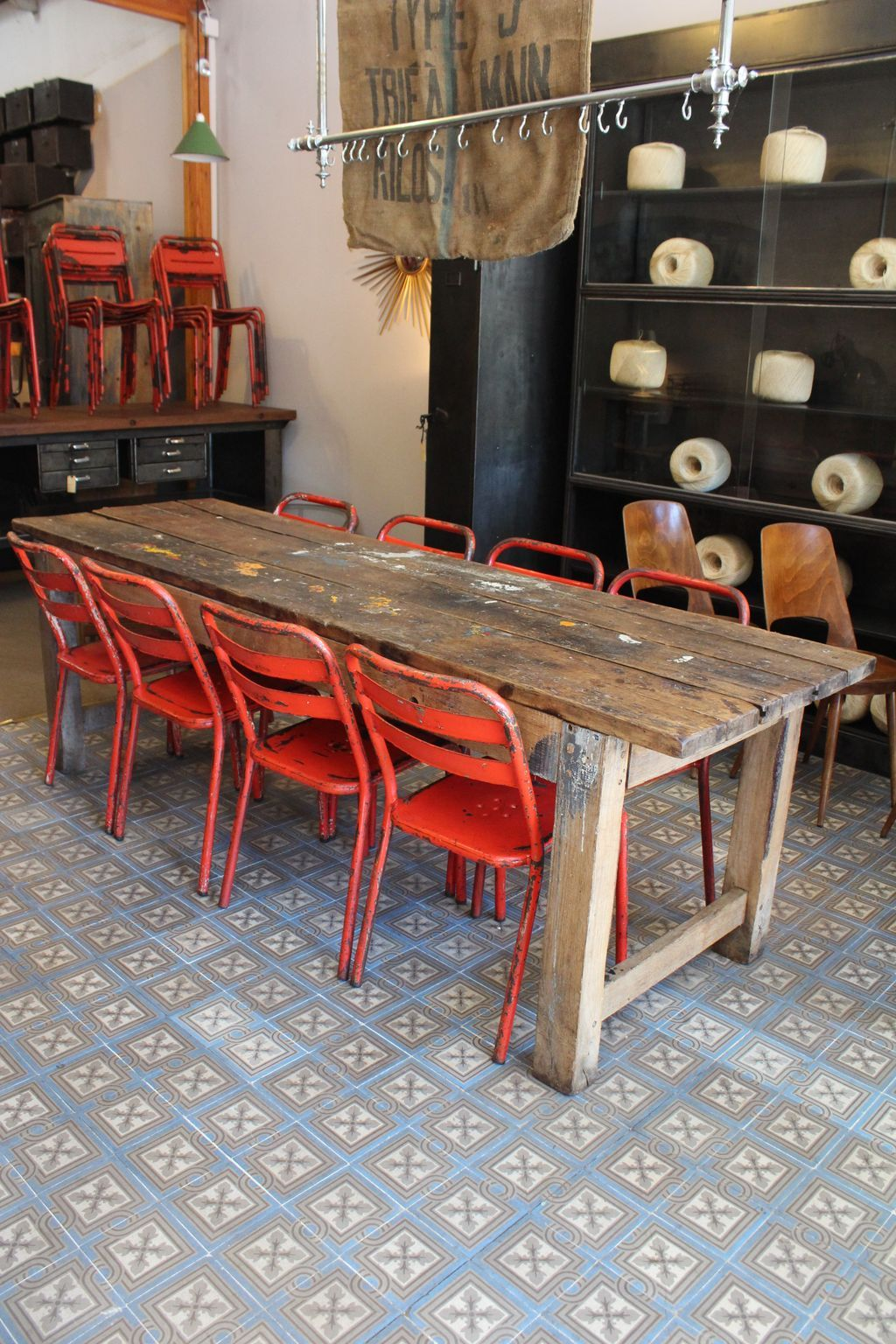 Mobilier Industriel Workshop Table Ma Petite Boutique Pinterest Chaises Peintes