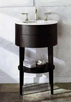 Kohler Offers This Round Vanity And Sink For A Simple Yet Unique