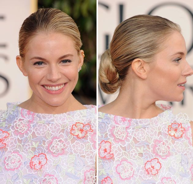 Wedding hair? Sienna Miller @ Golden Globes