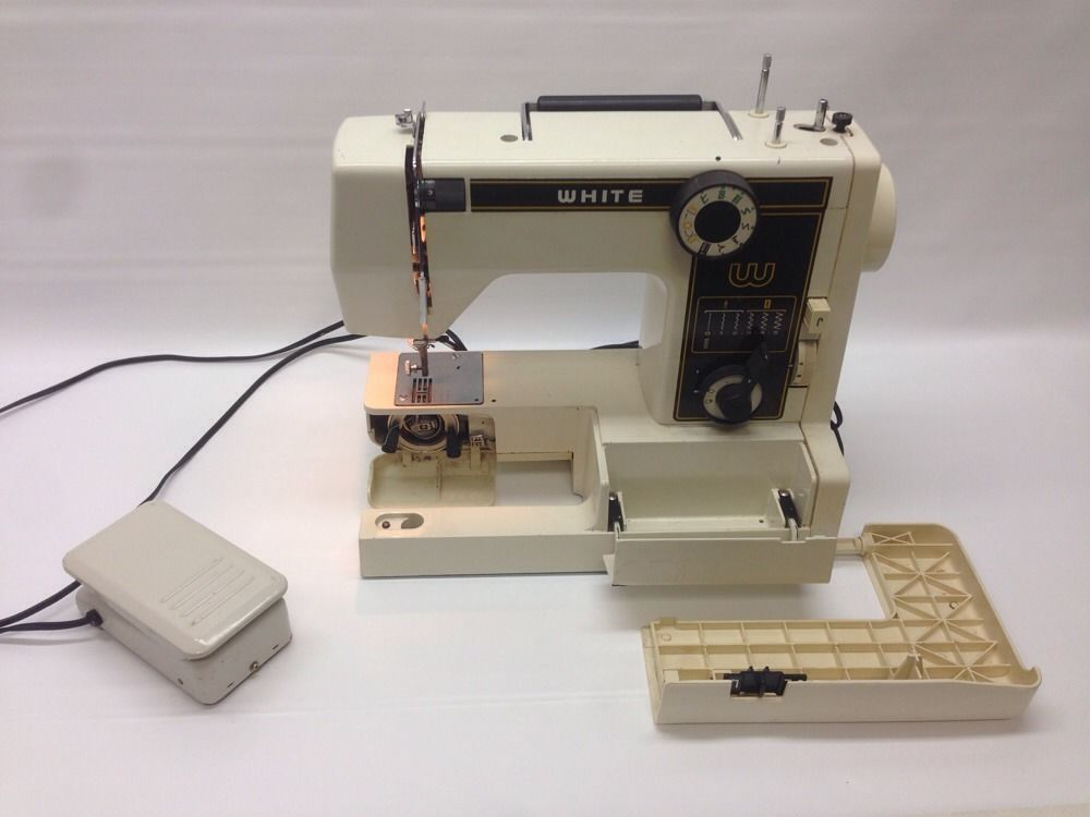 White 40 Precision Built Zig Zag Sewing Machine EBay Vintage Impressive Ebay White Sewing Machine