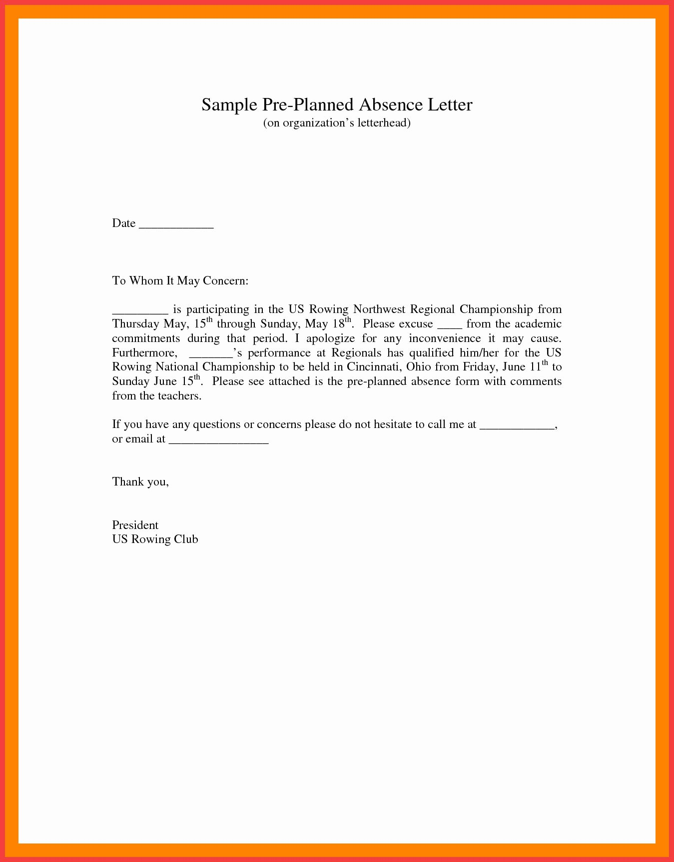 30 Absent Letter For School Lettering Sign In Sheet Template