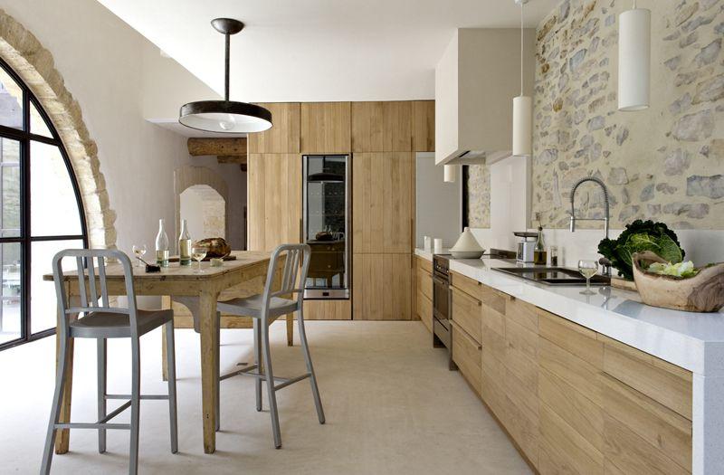 Populaire Cuisine de création d'ambiance moderne en bois | Laurent Passe  IH94