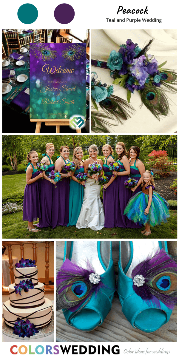 Best 8 Teal and Purple Wedding Color Ideas in 2020 Teal