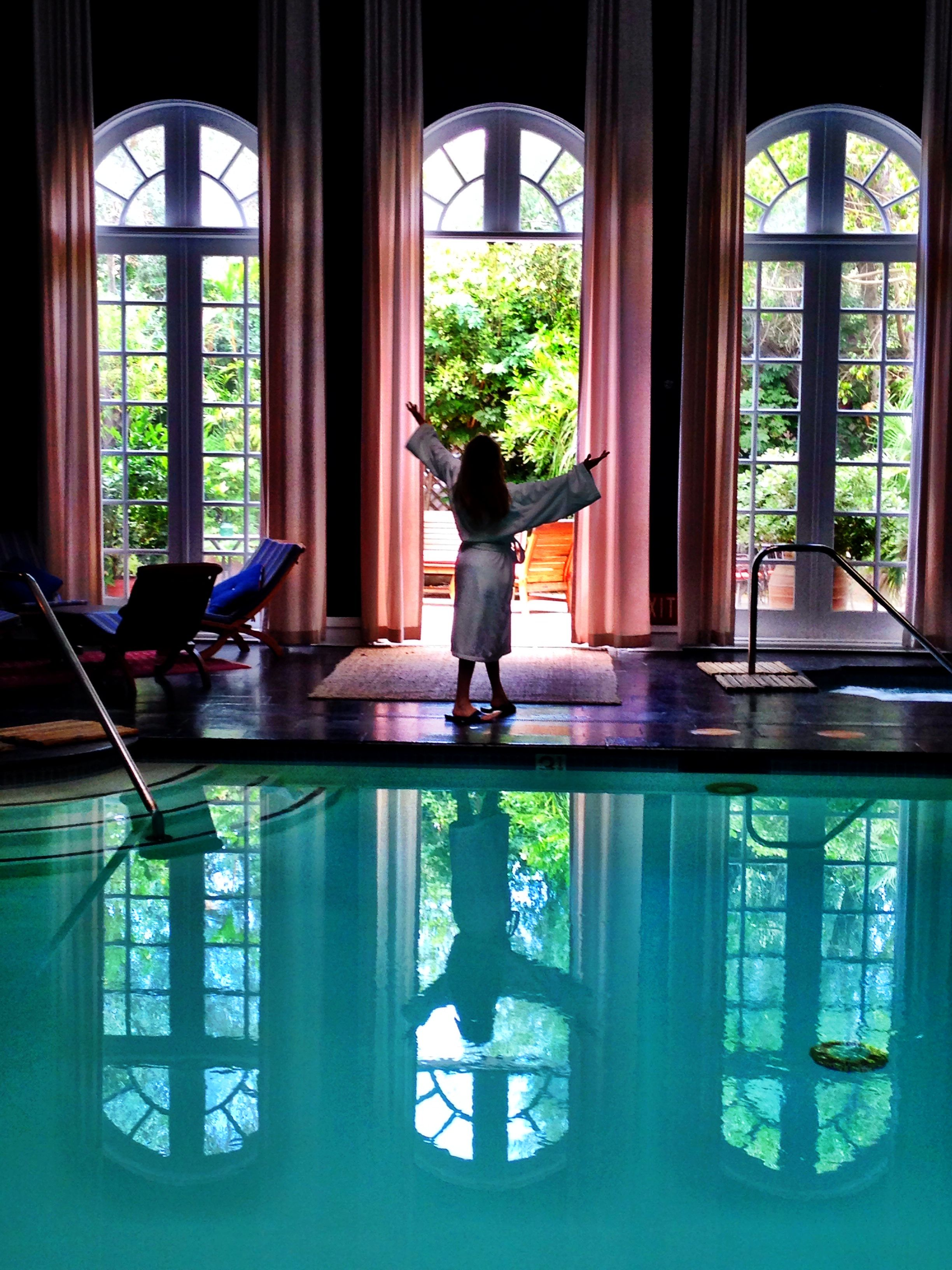 Glorious Spa Day Parkerpalm Indoor Pool Palmsprings Travel California