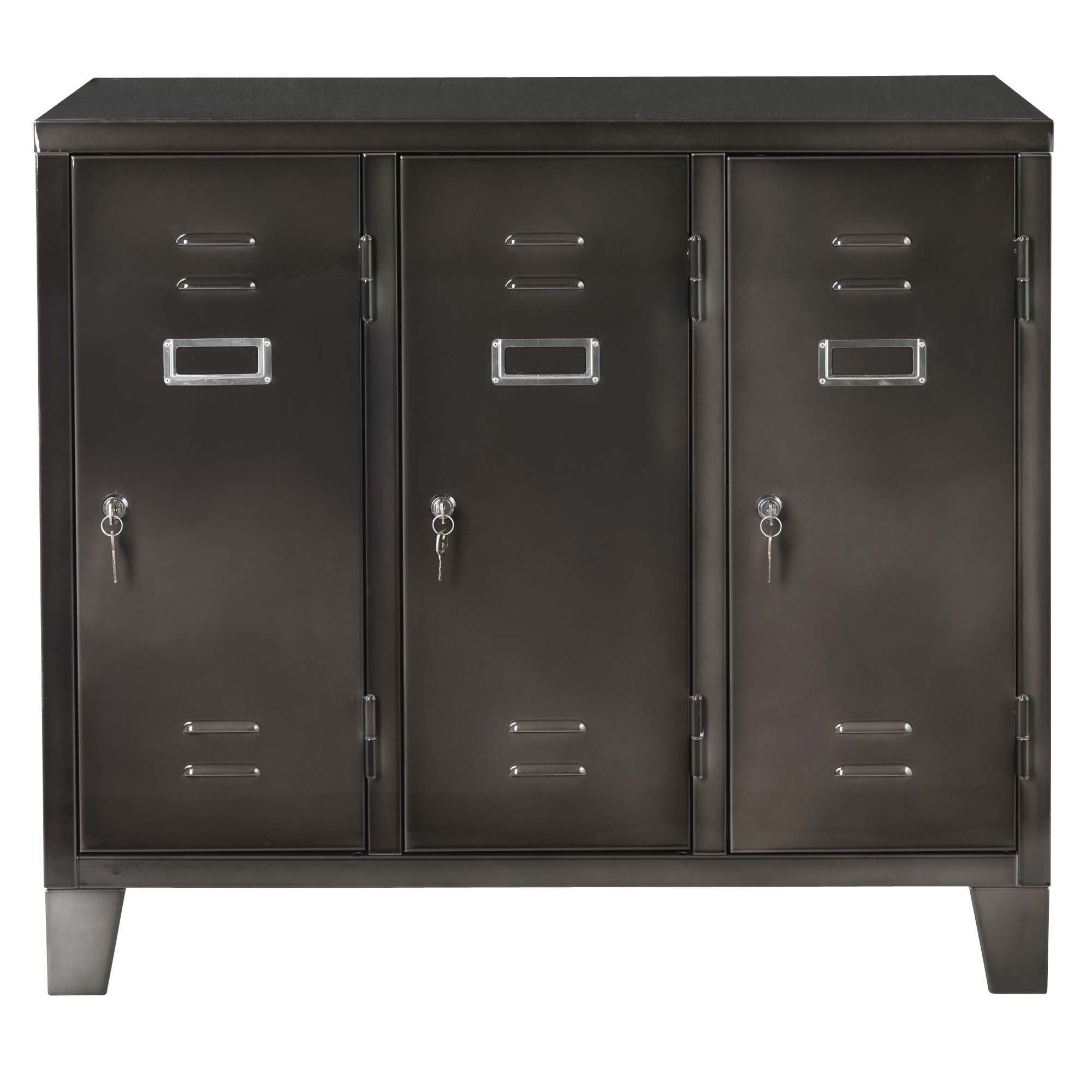 caisson 3 portes gris larsen les caissons les rangements bureau d coration d 39 int rieur. Black Bedroom Furniture Sets. Home Design Ideas