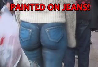 Girl Walks Around Nyc With No Pants On In 2020 Pants Painted