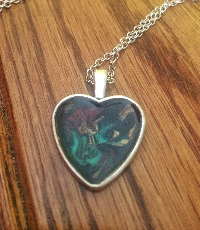 Etsynecklace etsyjewelry handpainted handmadejewelry