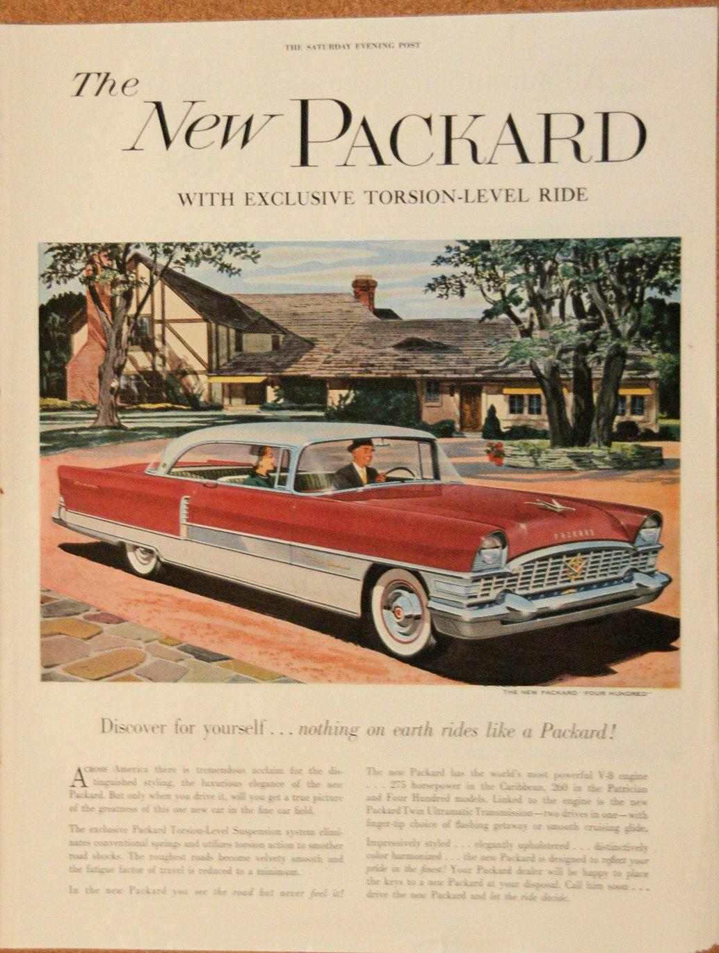 vintage car ads 1950s 1960s | 1950s Packard 400 - Vintage Magazine ...