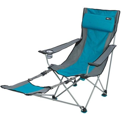 Travel Chair Big Bubba Black Wooden Spindle Travelchair Camp Footrest Beach Camping Chairs In Blue Grey