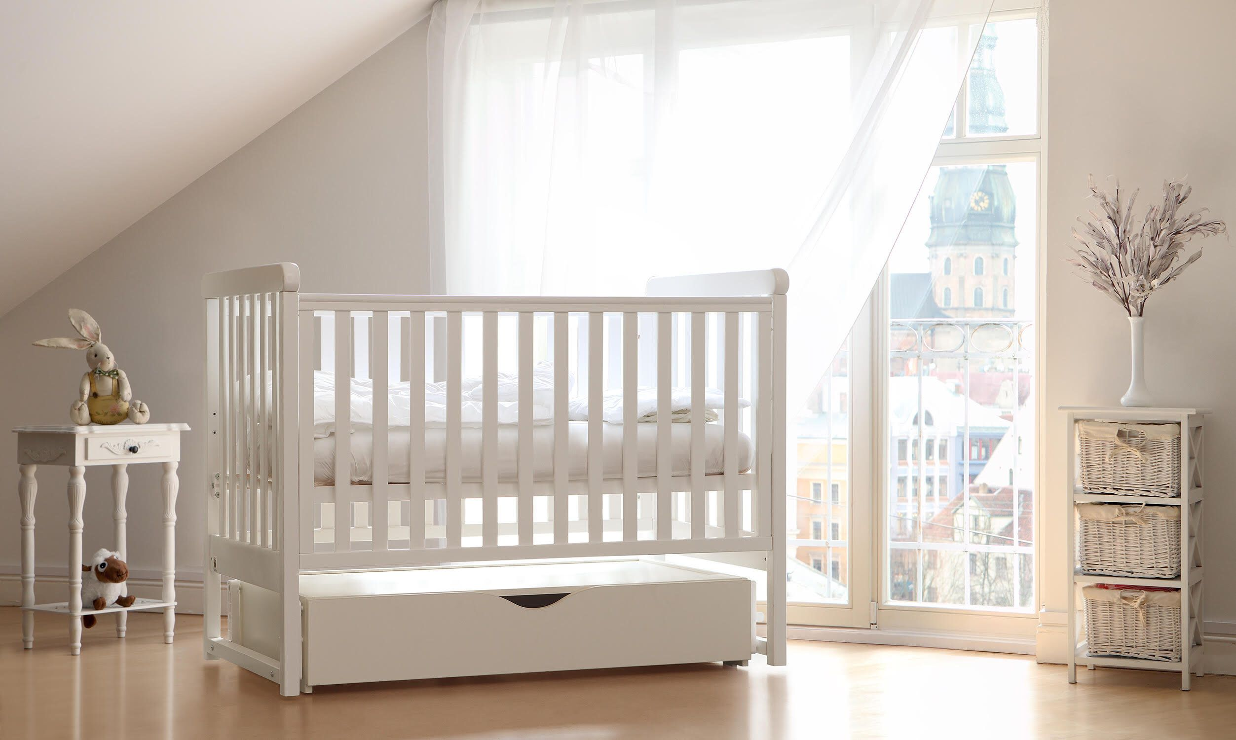 Yappymove Natural Wood Crib That Swings With A Mattress Included Baby Cot Baby Bed Natural Wood Crib Baby Furniture Nursery Wooden Bed Baby Furniture Wood Crib Cribs