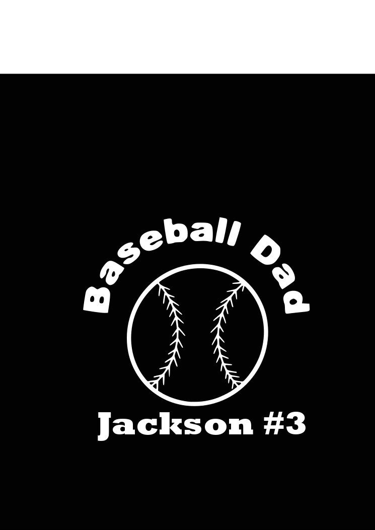 Fathers day must hav car decal baseball dad decal window sticker vinyl decal