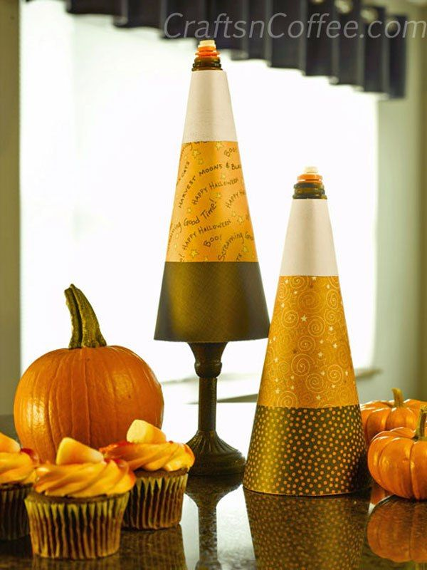 Easy candy corn cone craft