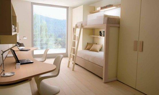 Room · Cool And Ergonomic Bedroom Ideas For Two Children By DearKids ... Home Design Ideas