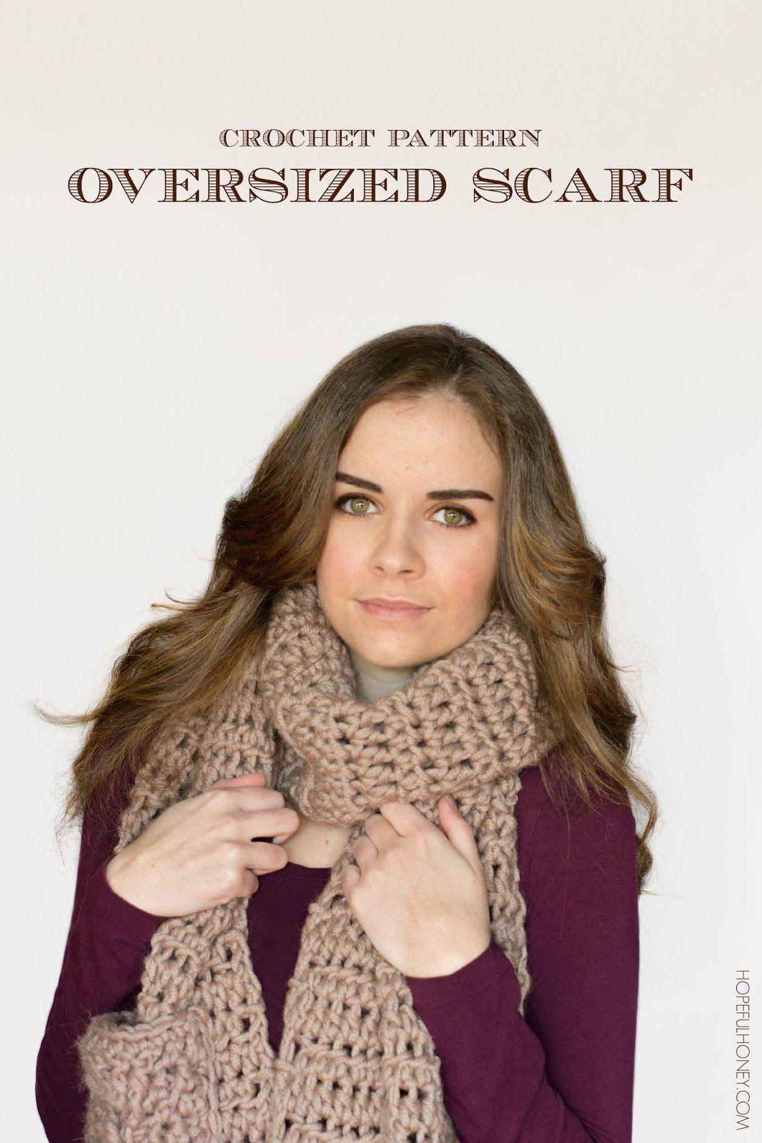Oversized Scarf Crochet Pattern | Bufanda cuello, Bufandas de ...