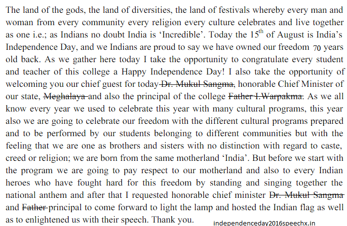 we have provided essays on independence day for kids school