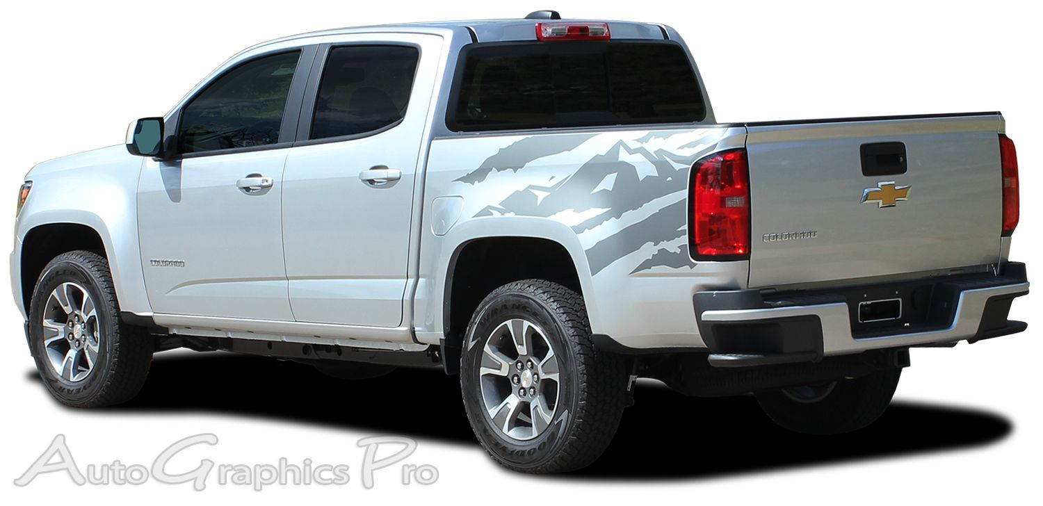 Chevy Colorado ANTERO Rear Side Truck Bed Mountain - Chevy decals for trucks