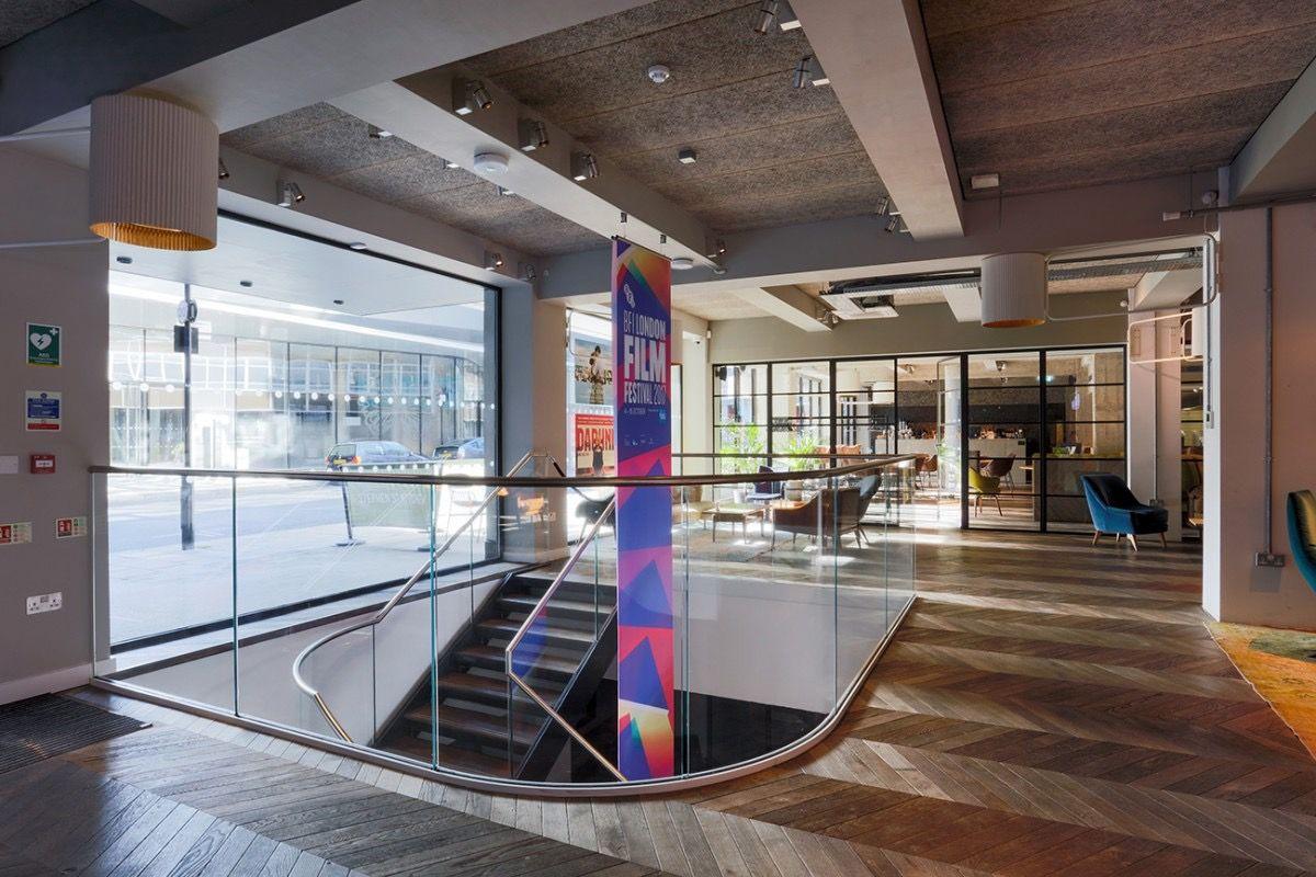 Inside British Film Institute S Cool New London Office British Films Film Institute Office Reception Design
