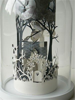 Paper Forest: Coiled Stories:Helen Musselwhite's charming paper displays.   Via Paper Forest blog.