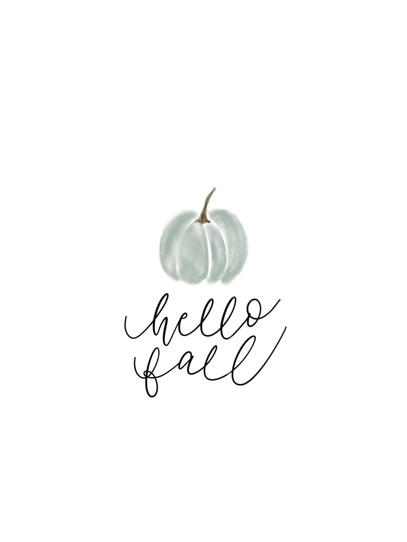 Hello Fall Simple Watercolor Pumpkin Decor Cute Fall Wallpaper Hello Autumn Iphone Wallpaper Fall