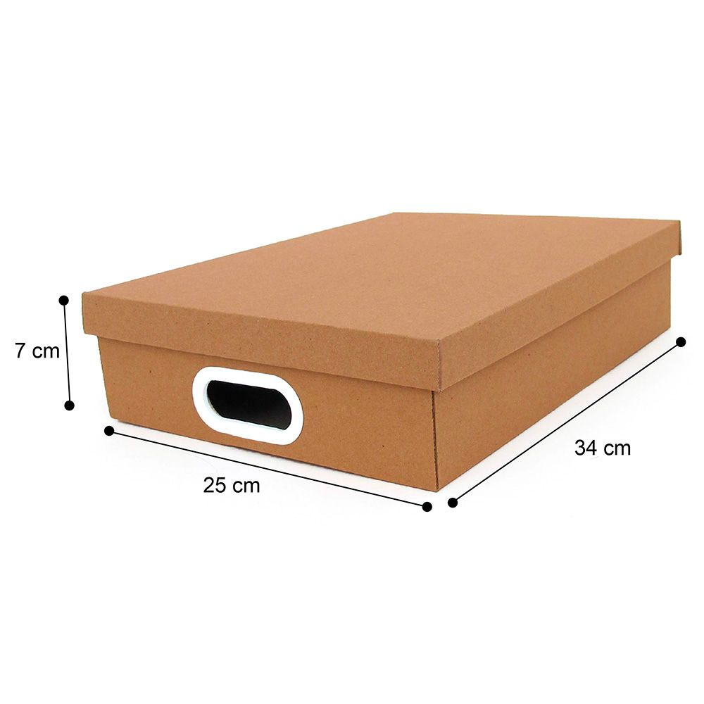 Caixa Organizadora Retangular A4 Kraft Boxgraphia Organiza O  -> Papel De Parede Para Sala Kalunga