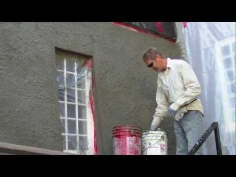 How To Apply A Heavy Stucco Dash Finish Texture Home Repair It Is Finished Stucco