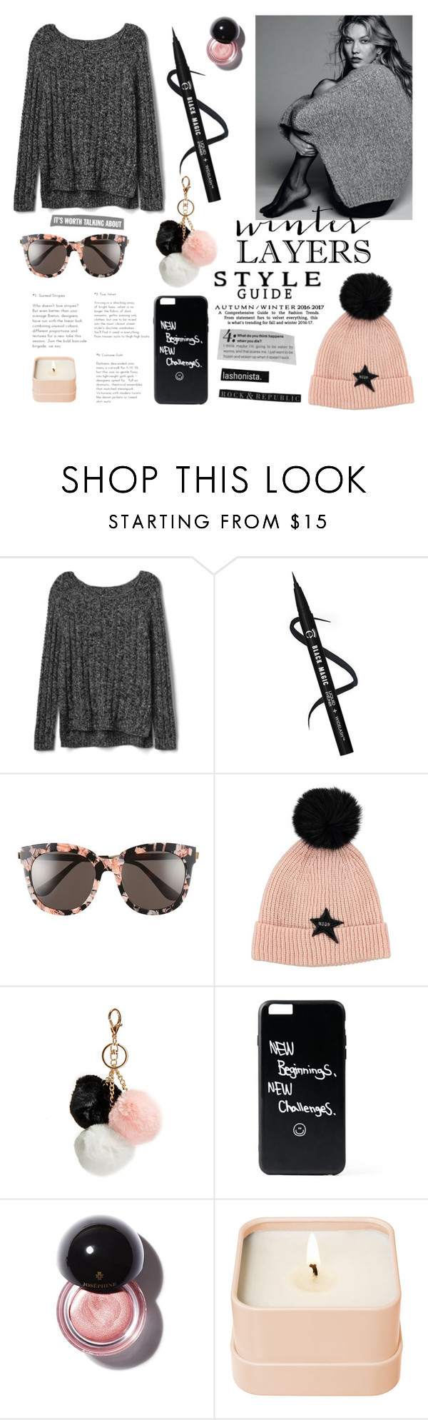 """""""Untitled #339"""" by irixiketa ❤ liked on Polyvore featuring Gap, Gentle Monster, GUESS and Henri Bendel"""