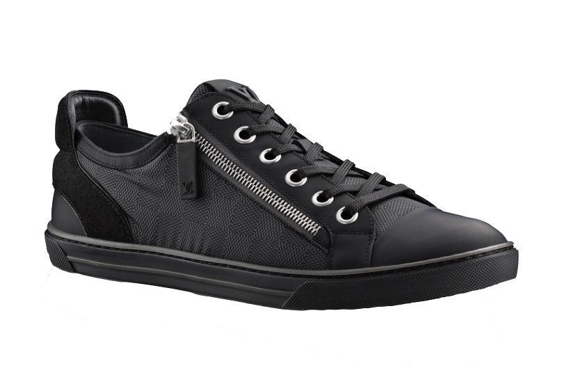 057031cb Louis Vuitton Black sneakers with zipper #LV #louisvuitton #sneakers ...
