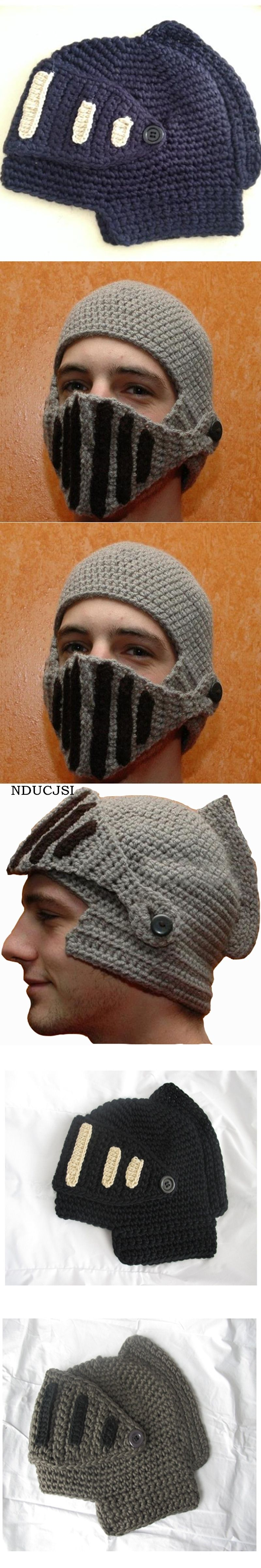 72eaf85adb4f8 NDUCJSI Winter Funny Roman Beanies Men Knight Women Hats Helmet Caps Beanie  Knit Ski Warm Cool