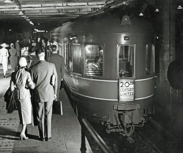 Rail Travelers About To Board The Deluxe 20th Century