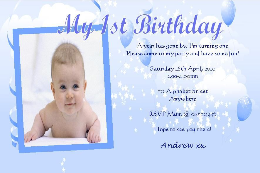 Invitations Wordings 1st Birthday (With images) Birthday