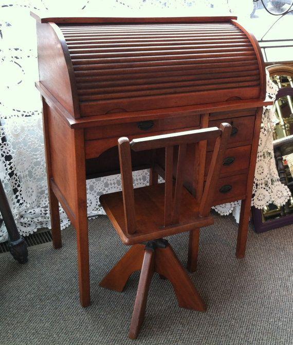 Antique Child S Roll Top Desk Ebay Roll Top Desk Secretary Desk Design Best Home Office Desk