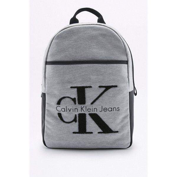 Calvin Klein RE-ISSUE 2.0 Grey Neoprene Backpack (8.620 RUB) ❤ liked on