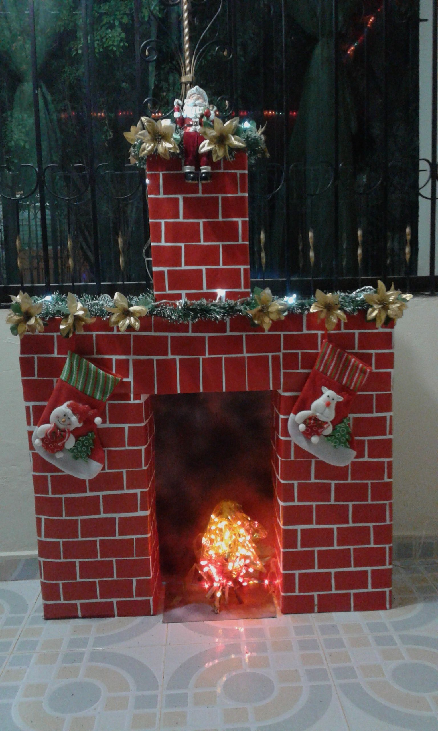 chimenea cajas de cart n chimeneas navide as
