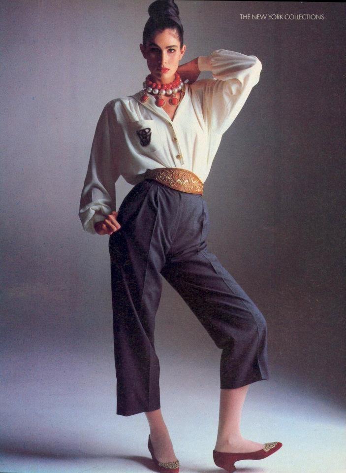 Vogue Us February Kim Williams 1985 A Part Of The Rest Vintage Inspirations 1980s 80s Fashion Fashion Retro Fashion Vintage