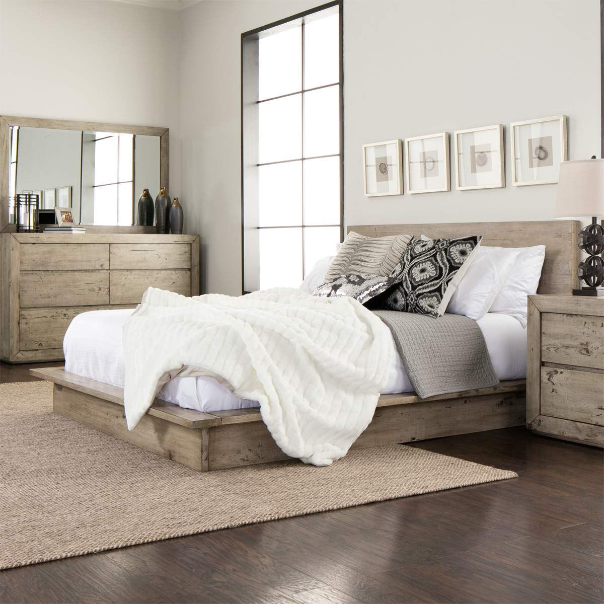 The Midtown Solid Wood Grey Bedroom Set Will Bring Modern Charm And Harmony To Your Master Retreat With I Grey Bedroom Set Wood Bedroom Sets Home Decor Bedroom