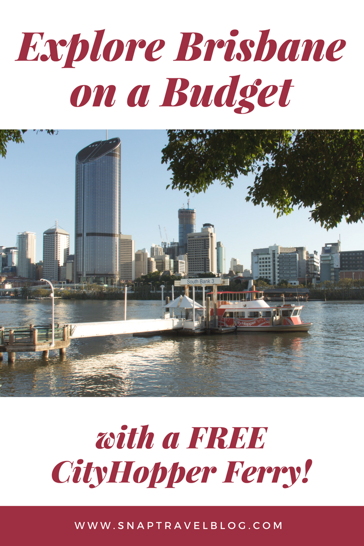 Visiting Brisbane and not sure what to do. Read this blog to find out about travelling on free transport around the CBD using the FREE Brisbane CityHopper Ferry. #BudgetHoliday,  #Holidaydownunder, #Holidayonbudget, #Ilovebrisbane, #VisitBrisbane