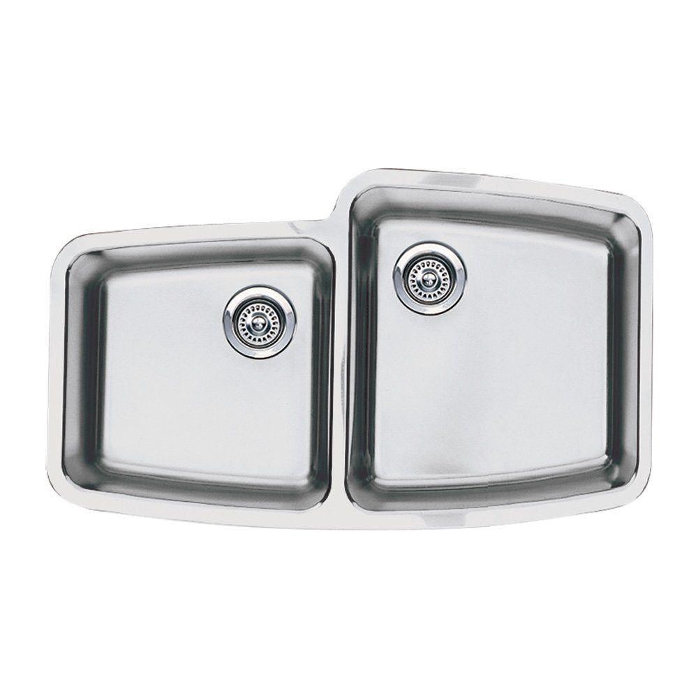 "Blanco 441003 Performa Dual Bowl Medium Reverse 33 1/8"" x 20"" Undermount Kitchen Sink- Extra Deep"