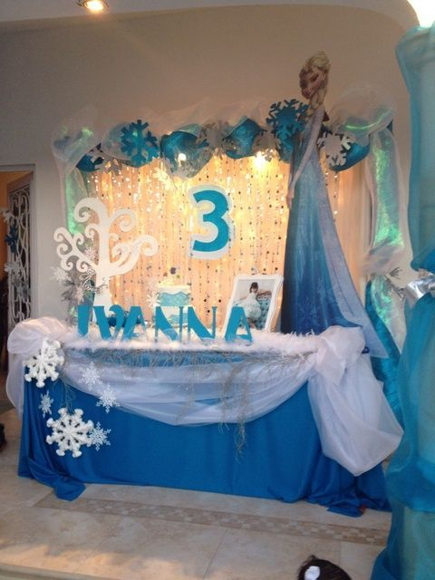Awesome Frozen Themed Decoration Ideas Part - 11: Frozen Birthday Party Ideas