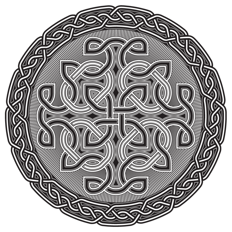 Celtic Mandala | Celtic Shield BW By ~IllustratorG On DeviantART