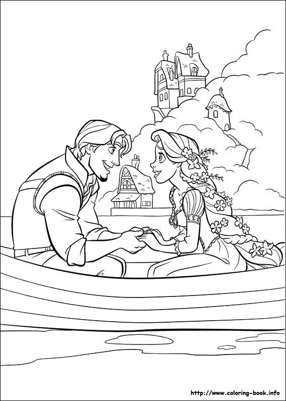 Printable disney including rapunzel colouring pages