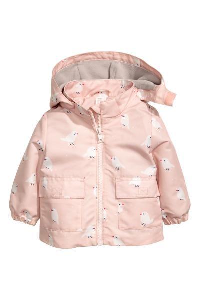 6a9a9859a Fleece-lined outdoor jacket - Light pink Birds - Kids