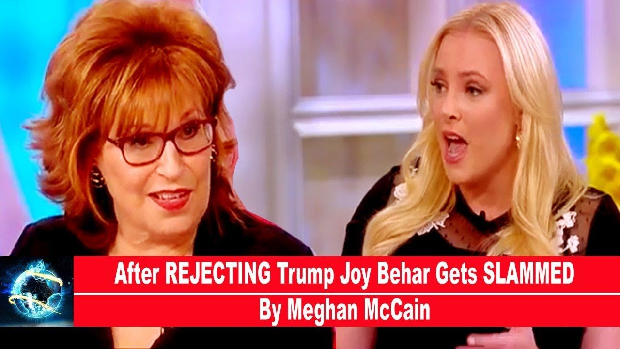 After REJECTING Trump Joy Behar Gets SLAMMED By Meghan McCain(VIDEO