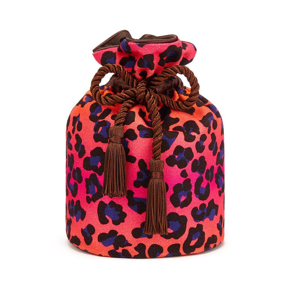 b16fa595134b7a Otis Batterbee Pink Leopard Print, Wash Bags, Pink Makeup Bag, Dopp Kit,
