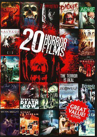 20 Horror Films Vol 5 4 Discs Dvd Region 1 Salvage Party Crasher Adrift Horror Films Horror Film