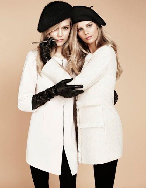 white coats. black gloves. chic.   SOZU_blog