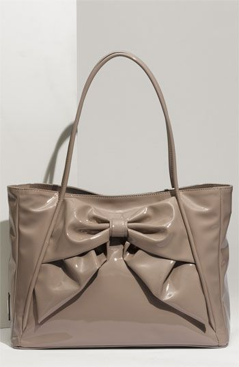 7c814a5b99e Valentino 'Betty Bow - Small Lacca' Lacquered Canvas Tote | When I ...