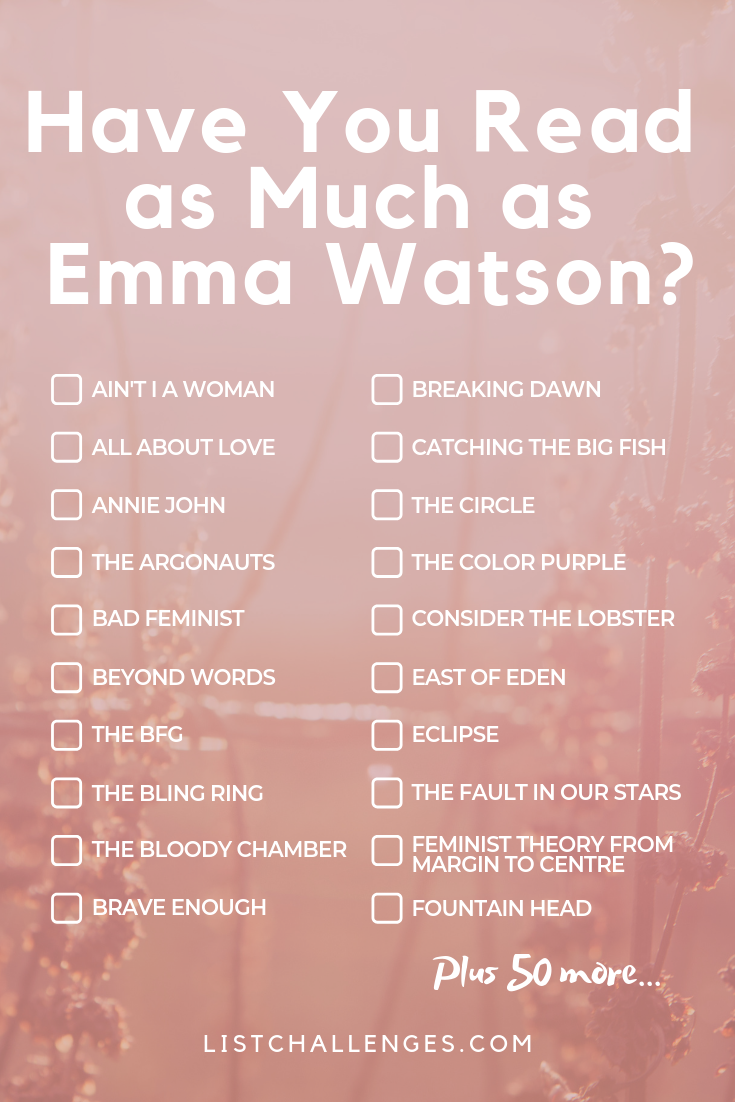 Have You Read as Much as Emma Watson?