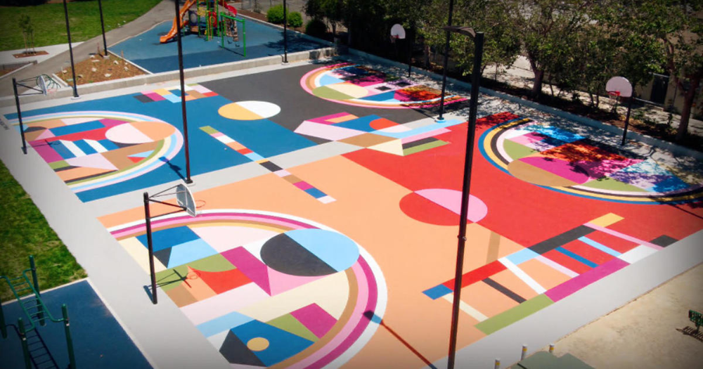 microsoft commercial paint basketball court Google