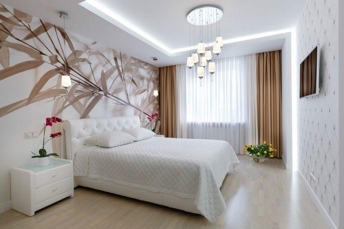 schlafzimmer gestaltung in weiß mit beigen akzenten | einrichten ... - Schlafzimmergestaltung