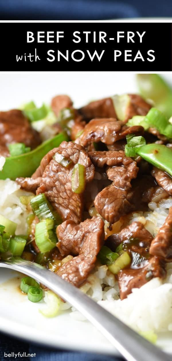 Stir Fry Beef with Snow Peas images